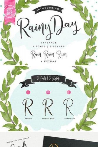 Rainy Day Script Fonts