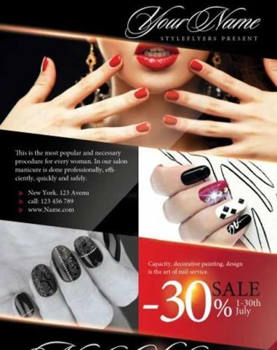 Nail Salon PSD Flyer Template