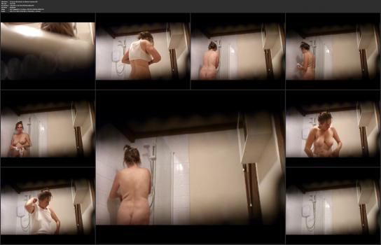 Shower room and locker room videos HD - 54 year old mature in shower unaware