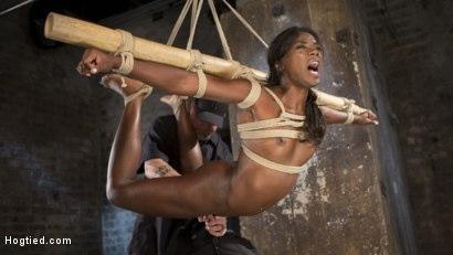 Kink.com- Stunning Ebony Slut in Brutal Bondage and Tormented