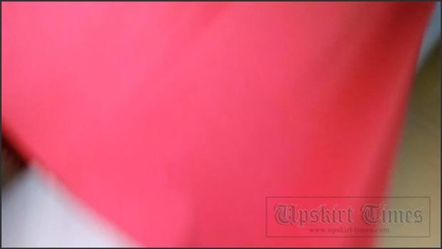 Upskirt-times.com- Ut_3355# Slender girl in a long red skirt. Our operator prepared for a long time and...
