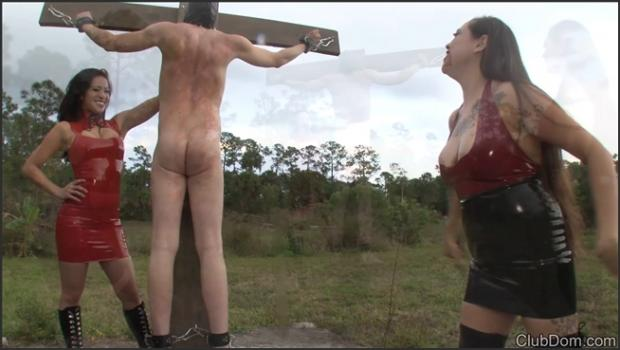 Clubdom.com- 3 Mistresses Whipping in the Rain