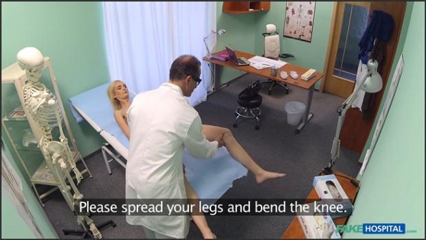 Fakehub.com- Skinny blonde takes doctors advice