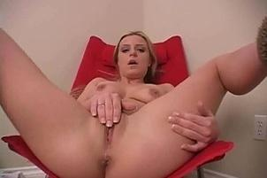 Awesomeinterracial.com- Sexy Blonde Chelsea Sits Back And Plays With Herself