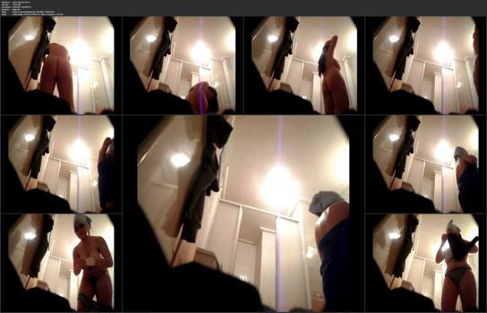 Shower room and locker room videos HD - nurse shower 01