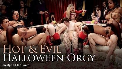 Kink.com- Evil  Hot Halloween Orgy