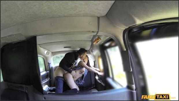 Fakehub.com- Horny couple get it on in rear of cab