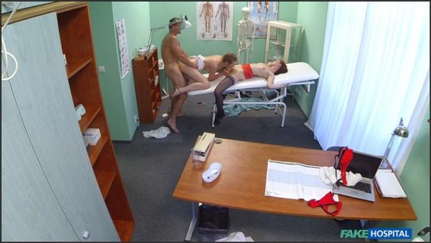 Fakehub.com- Hot nurse joins doctor and his sexy patient for threesome
