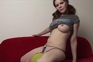 Awesomeinterracial.com- Legal Teen With Cute Tits Playing With A Balloon
