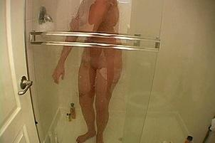 Awesomeinterracial.com- Austin Drys Her Sexy Body Off After Taking A Shower