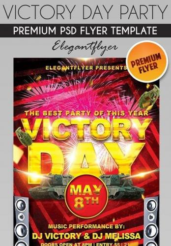 Victory Day Party Flyer