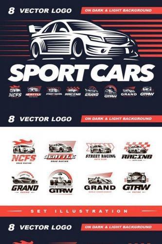 Sport cars logo set
