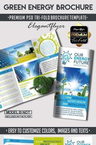 Green Energy Tri-Fold PSD Brochure