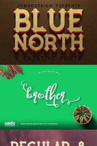 Blue North - Vintage Style Font