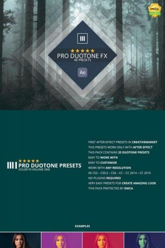 Pro Duotone Color Ae Presets Vol 1