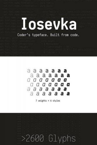 Iosevka Slab fonts 42 FONTS!