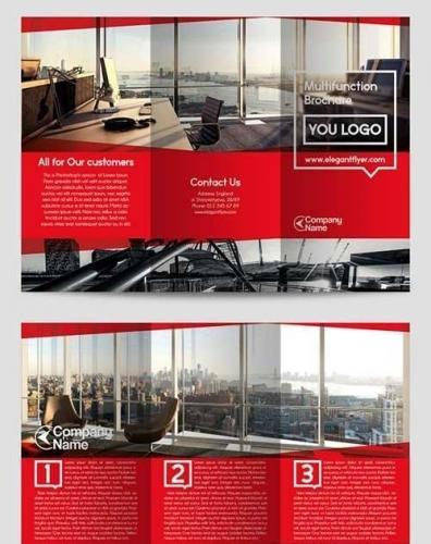 Multifunction Tri-Fold Brochure PSD Template