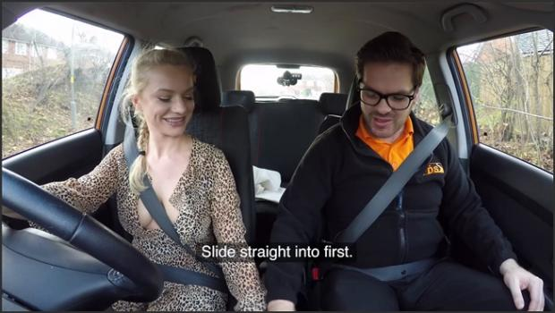 Fakehub.com- Polish blonde driving lesson