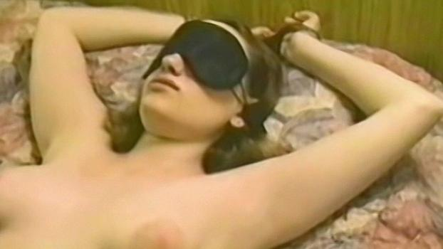 Homegrownvideo.com- Tied Up And Blindfolded Lesbian Takes A Dildo