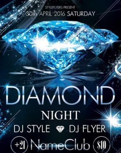 Diamond Night PSD Flyer Template
