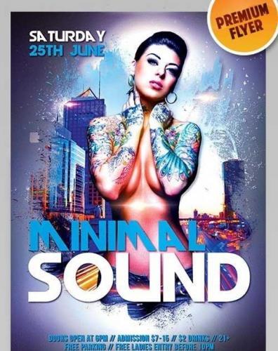 Minimal Sound Party V6 Flyer PSD Template