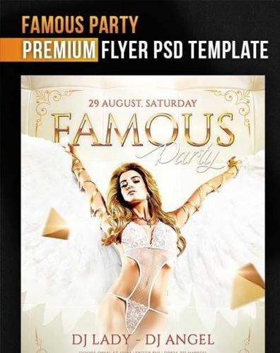 Famous Party Flyer PSD Template