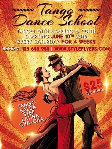 Tango Dance School PSD Flyer