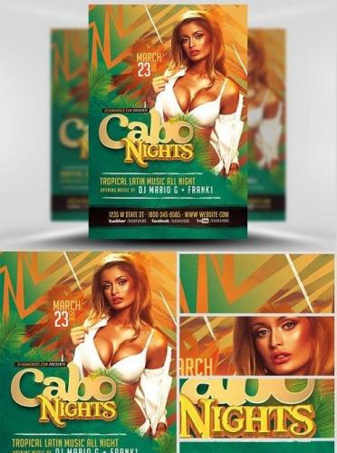 Cabo Nights Flyer Template