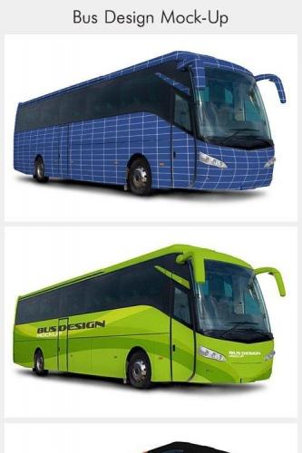 Bus Design Mockup Psd
