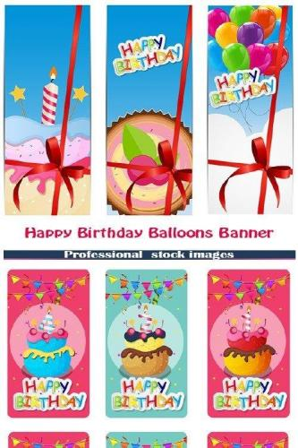 Happy Birthday Balloons Banner