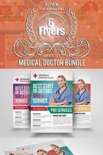6 Medical Doctor Flyers Bundle