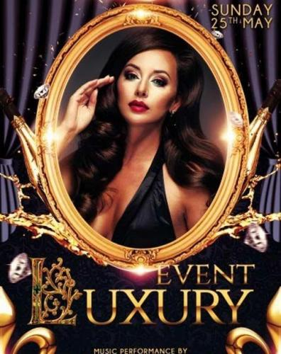 Luxury event PSD Flyer Template