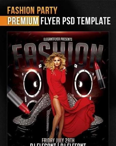 Fashion Party Flyer PSD Template