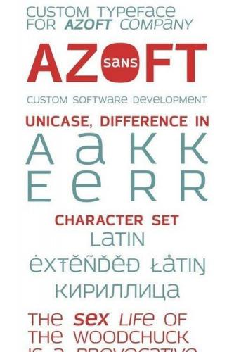 Azoft Sans font