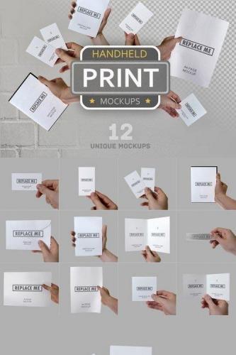 Handheld Print Mockups