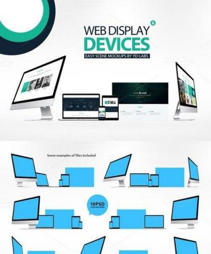 Web Display & Devices Mockups