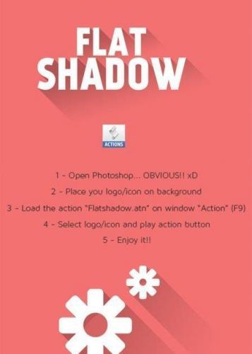 Mockup Flat Shadow - Photoshop Action