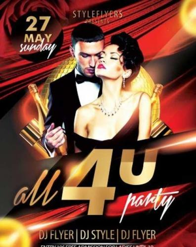 All 4u Party PSD Flyer Template