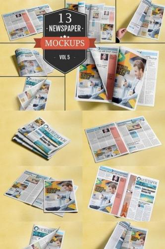 Newspaper Advertising Mockups Vol. 5