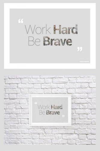 Quotes For Print Font + PSD