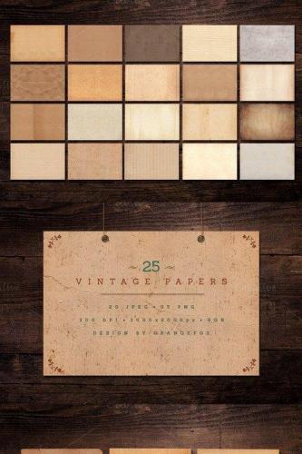 25 Vintage Paper Textures