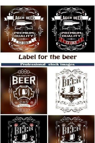Label for the beer in the vintage style