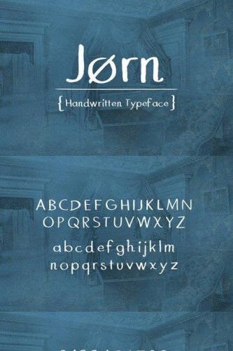 Jrn (Jorn) - Handwritten Typeface