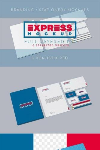 Express Branding-Stationery Mockups