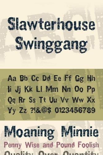 Slawterhouse Swinggang Font