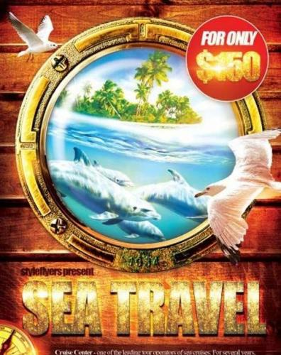 Sea Travel PSD Flyer Template