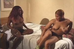 Awesomeinterracial.com- Hard Dick Tranny Enjoys Her Friend At Home